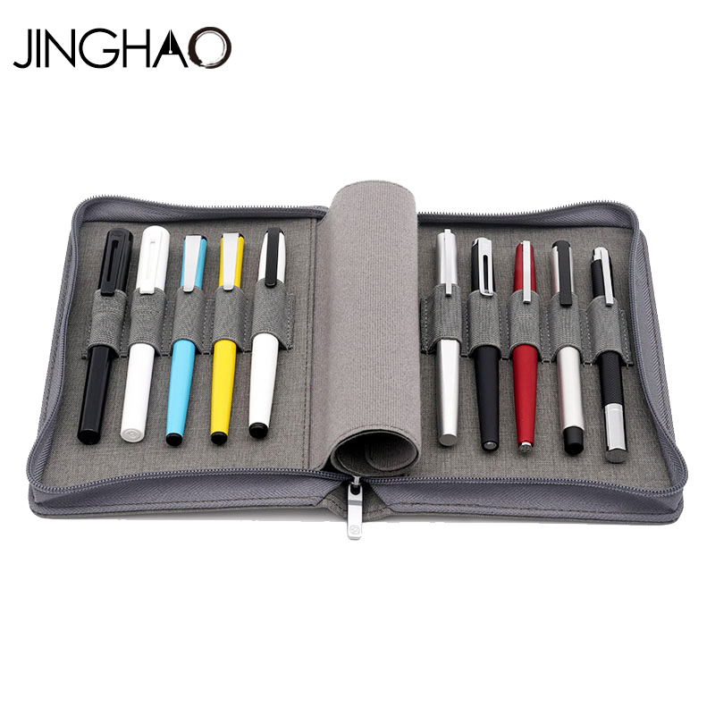 JINGHAO KACO ALIO Black or Grey Waterproof Canvas Pencil Bag Branch makeup Pen bag best gift for girl free shipping relay kaco ros 2504