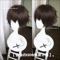 Бесплатная доставка 28 см короткий прямой браун бунго бродячих собак косплей волос Dazai Osamu синтетические аниме косплей парики