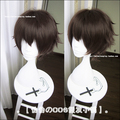 Free Shipping 28CM Short Straight Brown Bungo Stray Dogs Cosplay Hair Dazai Osamu Wig Synthetic Anime Cosplay Wigs