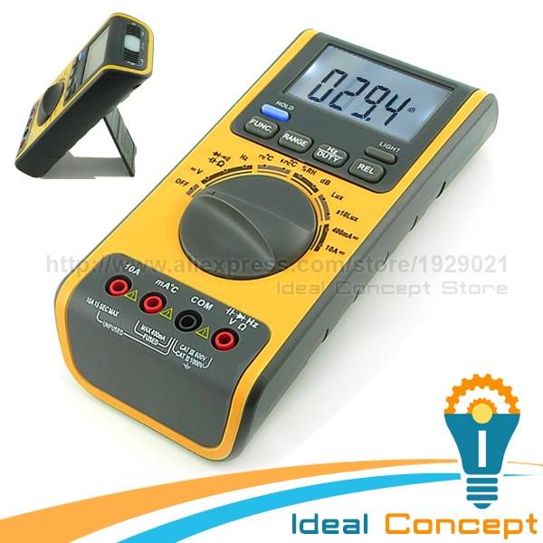 Multifunction Meter 96x96 : Multifunction meter multimeter lux light tester sound