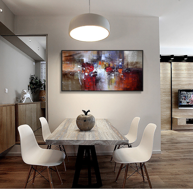 Abstract Modern large canvas wall art huge handmade oil painting ...