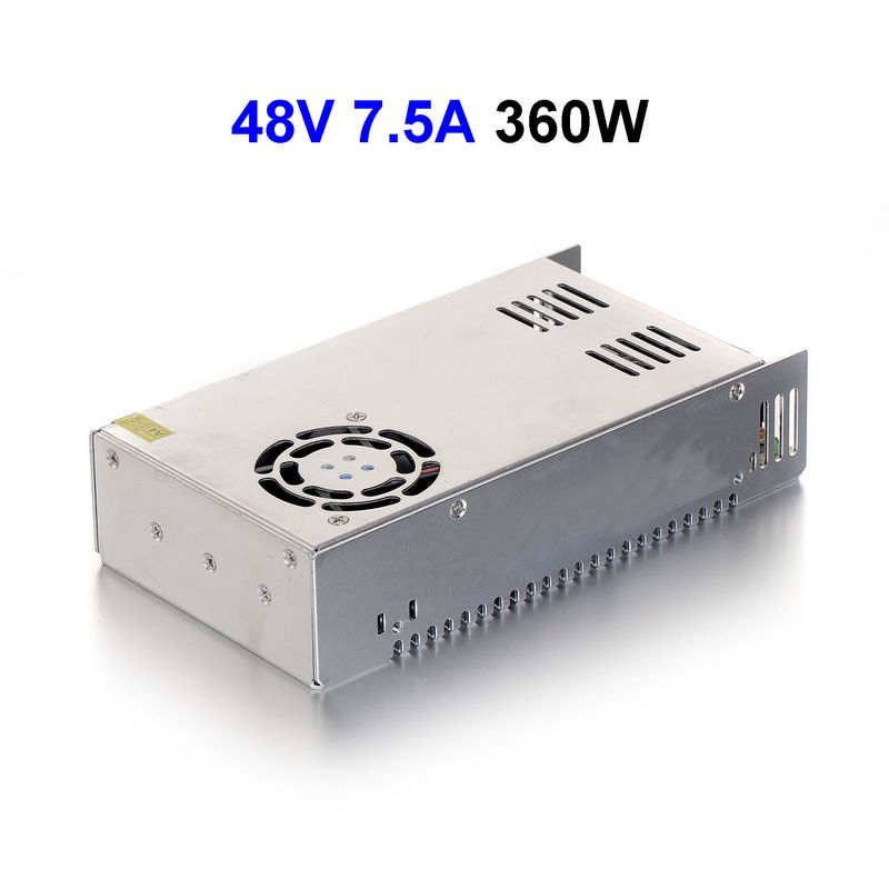5pcs DC48V 7.5A 377.5W Switching Power Supply Adapter Driver Transformer For 5050 5730 5630 3528 LED Rigid Strip Light sxzm 5pcs dc male 5 pcs dc female connector 2 1 5 5mm dc power jack adapter plug connector for 3528 5050 5730 led strip