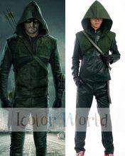 1afb3c6371f0c3 Arrow 3 Oliver Queen Green Arrow Cosplay Costume Halloween Costume(China)