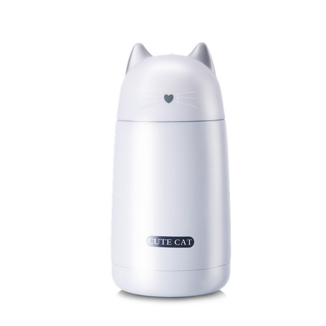 Lovely Cat Shaped Eco-Friendly Stainless Steel Thermal Mug
