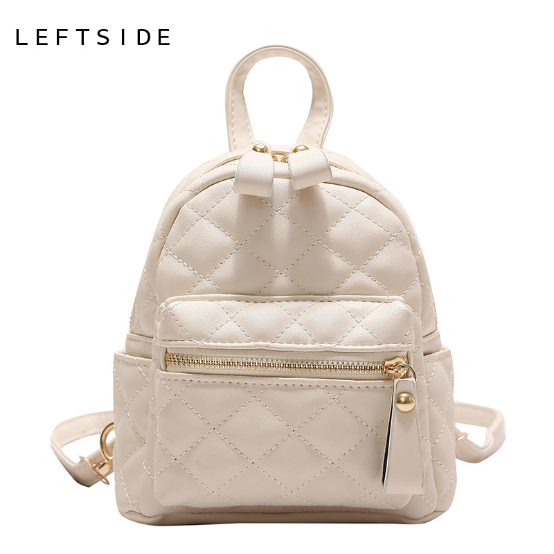 3ad06d92b455 LEFTSIDE Lingge Backpack Women PU Leather Bag Female Small Backpacks Back  Pack Ladies School Bags for Teenagers Girls Yellow