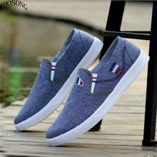 WHOSONG Men Loafers Shoes Casual 2019 Spring Summer Light Canvas Breathable Fashion Flat Footwear M166