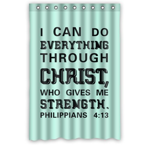 Memory Home Creative Bath Bible Verse I Can Do All Things Through Christ Who Strengthens Me Philippians 413 Shower Curtains In From
