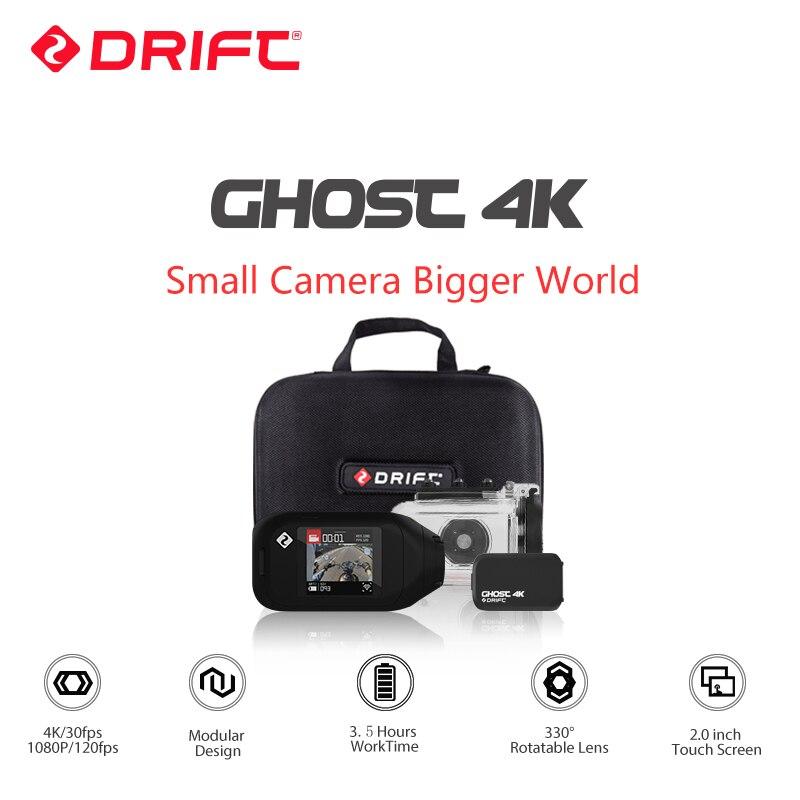 Dérive fantôme 4 K moto Version caméra d'action Ambarella sport Mini caméra bras 12MP CMOS EIS lentille rotative WiFi en direct Streaming