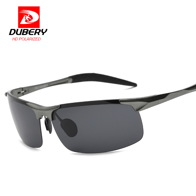 DUBERY 2017 Luxury Brand Polarized Sunglasses Mens Aviation Driver Male Night Vision Sun Glasses For Men Safe Designer Oculos