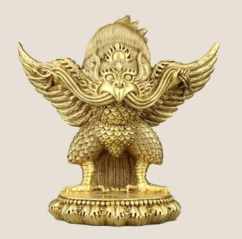 Collection fine workmanship brass Dapeng bird crafts statue