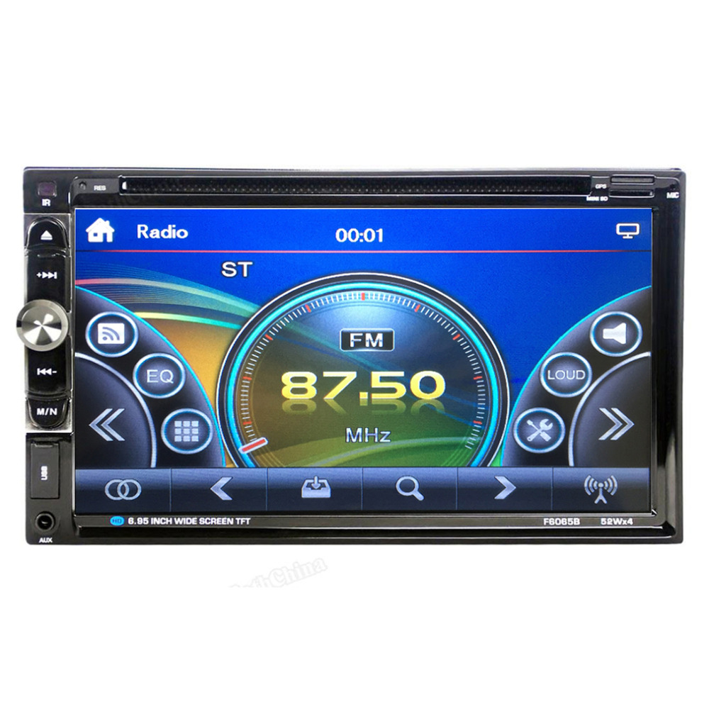 2016 New F6065B 7inch Dual 2Din 800 * 480 Stereo Radio DVD Player Auto AM/FM Audio USB Bluetooth Radio For Car No Android System автомобильный dvd плеер joyous kd 7 800 480 2 din 4 4 gps navi toyota rav4 4 4 dvd dual core rds wifi 3g