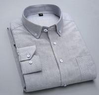 2018 autumn cotton men's shirt long sleeved business dress shirt for big boys