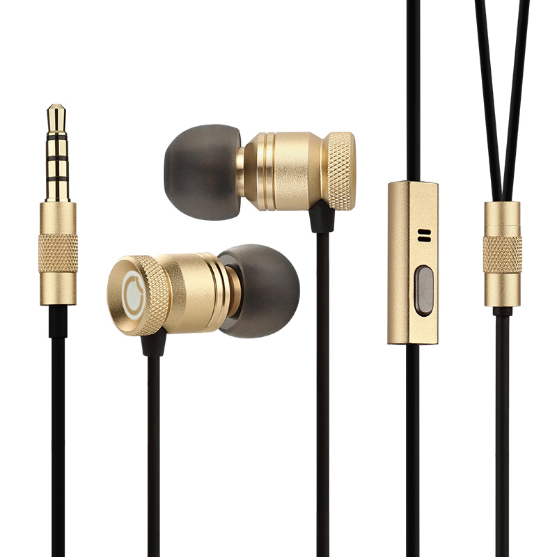 цена на GGMM Nightingale Earphone for Phone Headset In-Ear Metal Earphone with Mic Bass Stereo Wired Earphone Gaming Earbuds Headset