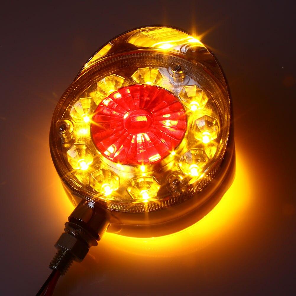 Поворотные сигнальные огни задние фонари яркие сигнальные лампы тракторы боковой габаритный свет 24 в двойной цвет универсальный 28LED - Испускаемый цвет: yellow red
