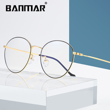 BANMAR Fashion Blue Light Glasses Retro Metal Frame Anti Ray Computer Vintage Round Eyewear A1916