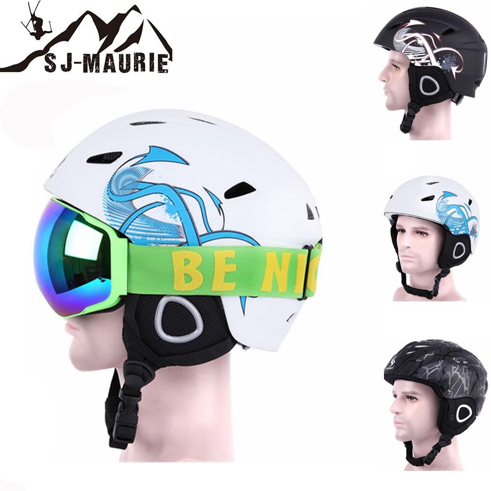Effizient Sj-maurie Professionelle Sport Skateboard Ski Snowboard Helm Integral Geformten Ultraleicht Atmungsaktiv Ski Helm 3 Farben VerrüCkter Preis