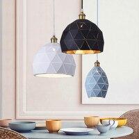 Nordic Vintage Loft Lamp LED Pendant Light Indoor Solid Geometry Modern Creative Kitchen Bedroom Dining Room Home Lighting Decor