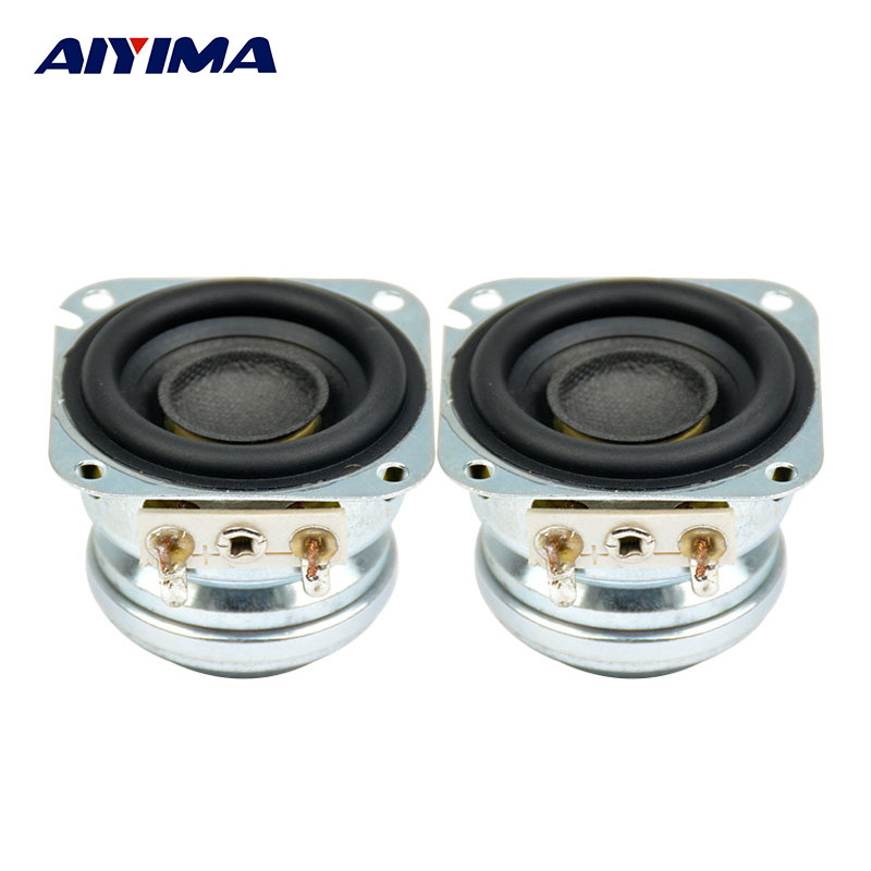 aiyima 2pcs 1 5inch audio portable speakers 4ohm 5w 10 w full range neodymium magnetic bass. Black Bedroom Furniture Sets. Home Design Ideas