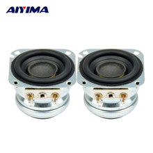 AIYIMA 2 unids 1.5 pulgadas 4 ohm 5 W 10 W Gama Completa frecuencia de Neodimio Magnético Bass Audio Estéreo de Altavoces de Sonido Caja de Accesorios de Bricolaje