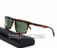 EyeGlow Vintage Platz Sonnenbrille OV5189 Bernardo gläser Gute qualität acatate Material oculos de grau brillenfassungen