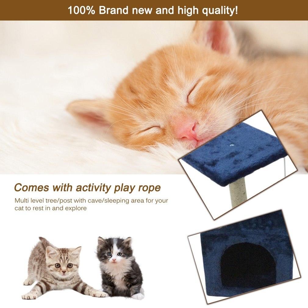 90 CM arbre à chat maison avec boule suspendue chaton meubles rayures pour chat escalade cadre sisal corde jouet