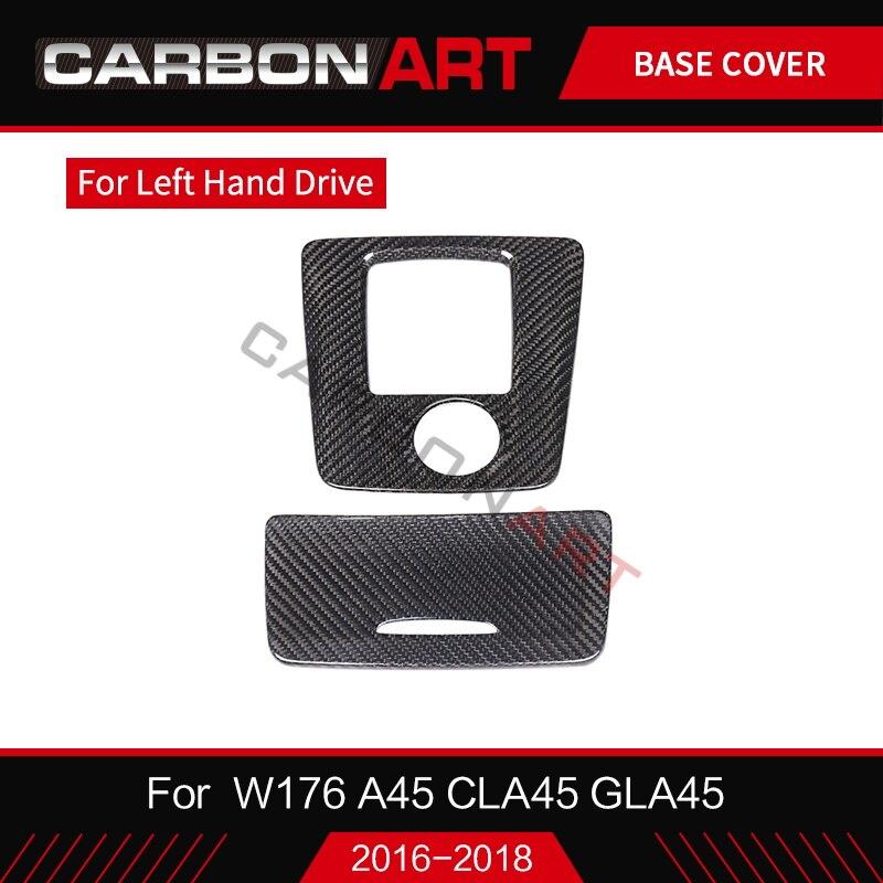 Pour Mercedes CLA GLA A classe W117 W176 A180 boîte de rangement intérieure de voiture en fibre de carbone X156 couvercle de cendrier retournement garniture de porte LHD RHD