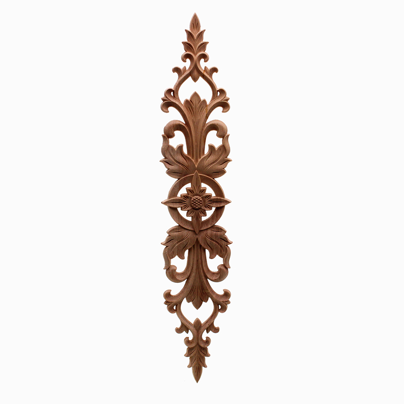 Home Wedding Decoration Accessories Furniture Appliques Wood Carving Corner Wooden Decor Frame Wall Door Woodcarving Decal