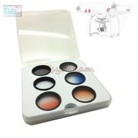 UV CPL Graduated Blue Red Orange Grey Lens Filter Kit for DJI Phantom 3 Standard Accessories