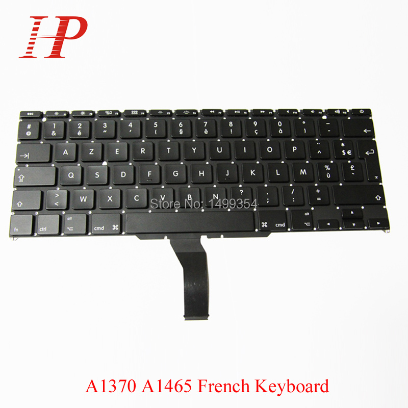 Original New A1370 A1465 French Keyboard For Apple Macbook Air 11'' Replacement