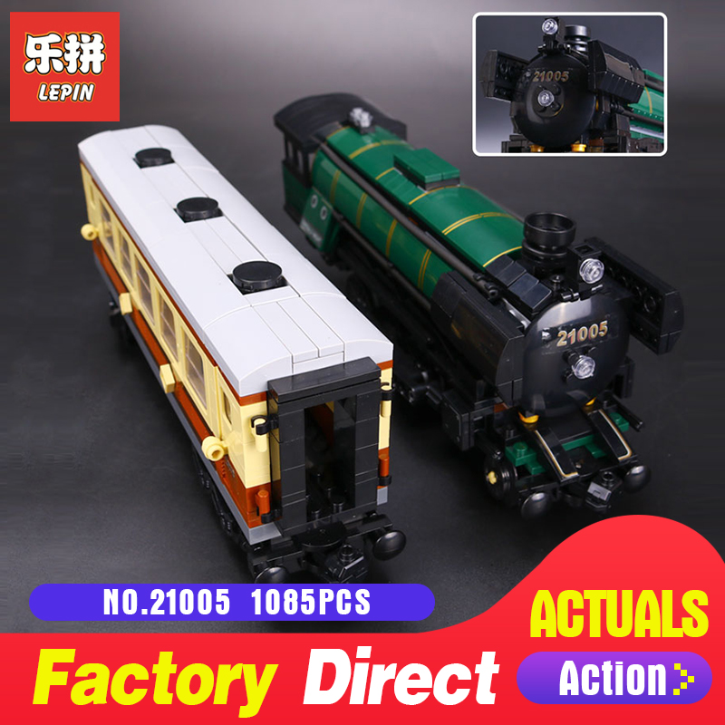 1085Pcs Lepin 21005 Technic series the Emerald Night model building blocks set Classic compatible Steam trains Toys 10194