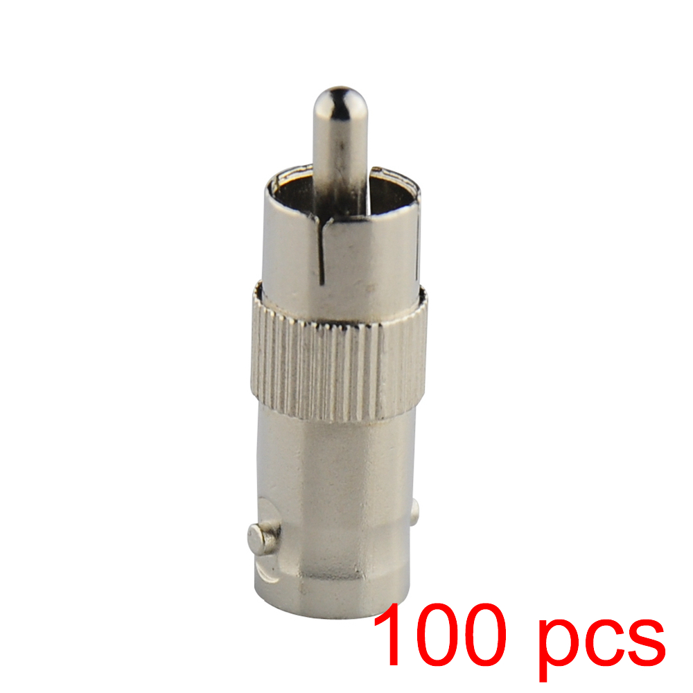 100x RCA Male to BNC Female Jack Connector Adapter Coupler Plug for CCTV Camera