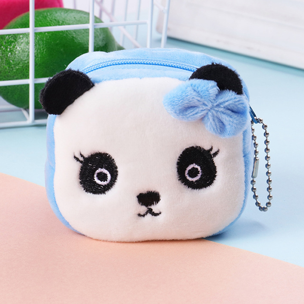 Girls Key Soft Plush Zipper Coin Purse Large Capacity Gift Portable Mini Cute Stereo Money Bag Cartoon(China)