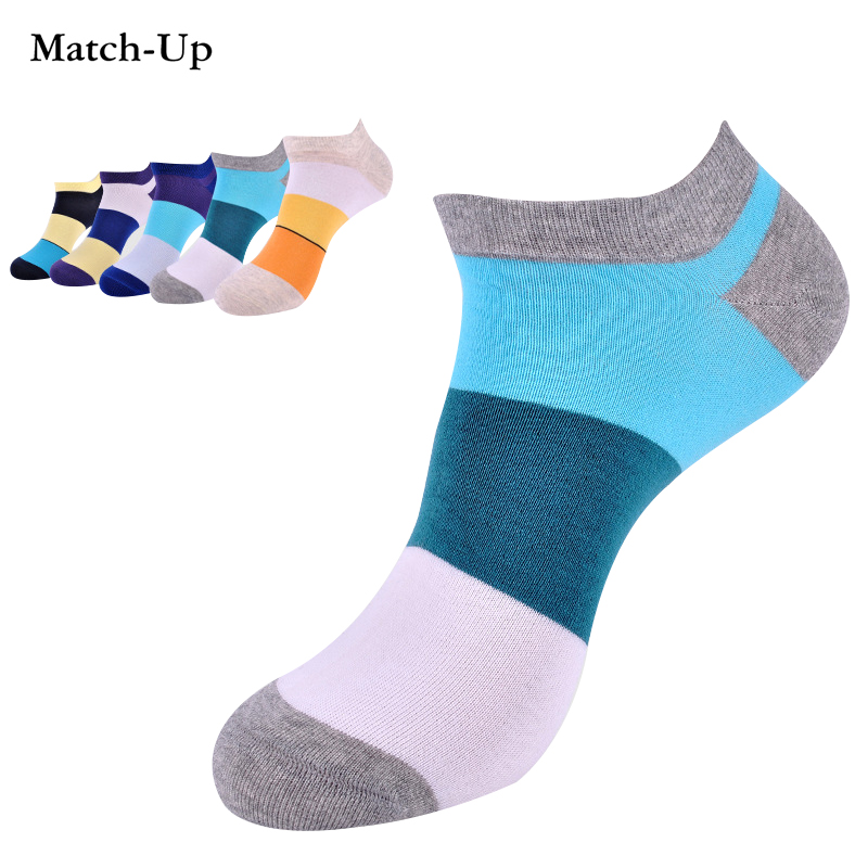 cotton mens socks diamond suppy to designer brand shorts socks causal free shipping high top quality boat sock  (5 pairs/lot)