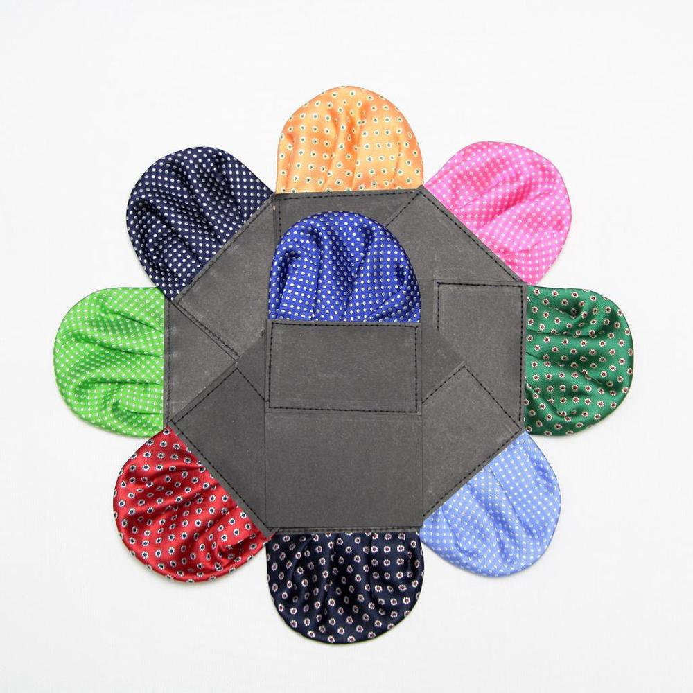 2019 Dot Men's Prefold Pocket Square Handkerchief Tower Paper Hanky