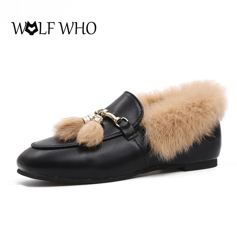 WOLF WHO Leather Women's Loafers Embroidery Rose Moccasins for Women 5 Colors Winter Casual Women Shoes Slip On Ladies Flats
