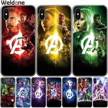 Marvel heroes Avengers4: Endgame Phone Case For iPhone XS Max XR X 7 6s 8 Plus 5S SE iron Man avengers case Cover Etui Coque
