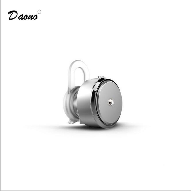 Daono Mini Stereo Bluetooth Earphone 4.0 In-Ear Wireless Mic Headset Handsfree  Music Headphone for All phone for iphone car charger bluetooth wireless headphones in ear earphone headset mini stereo headphone white color