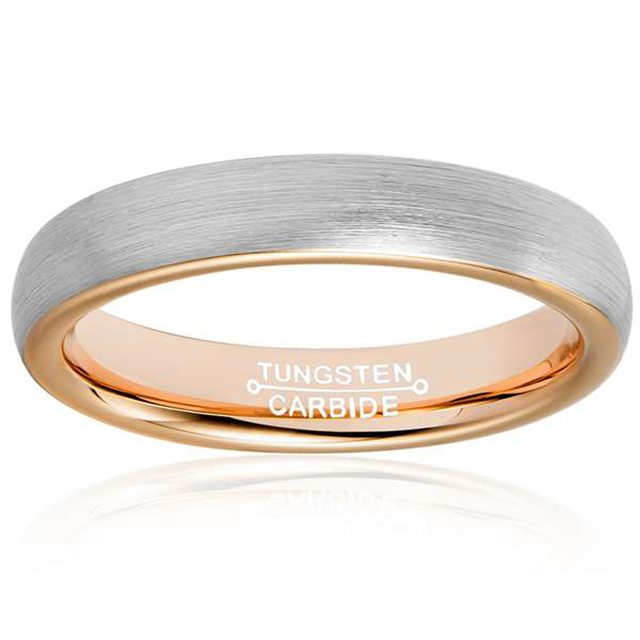 Tungsten Band Rings  Rose Gold Plated