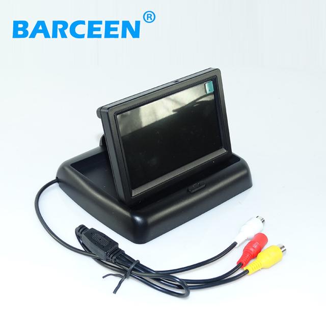 """Utilizar para diferentes tipos de coche posterior del coche del sistema de marcha atrás con monitor de 4.3 """"lcd a color de pantalla ancha de alambre automático"""