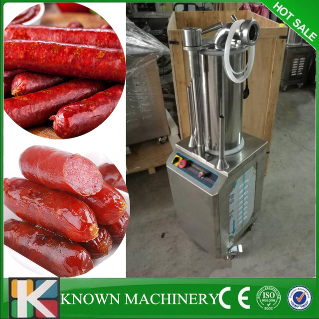 Commercial dual control sausage maker hydraulic sausage filler maker ham sausage making machine free air shipping