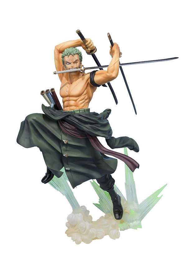 Anime Figuarts One Piece POP Roronoa Zoro Battle Ver.PVC Action Figures Collectible Model Kids Toys Doll 20CM one piece action figure roronoa zoro led light figuarts zero model toy 200mm pvc toy one piece anime zoro figurine diorama