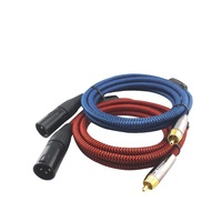 HIFI 2 RCA To Dual XLR Audio Cable 2 RCA Male To 2 XLR Male For