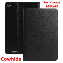 Case Cowhide For Xiaomi MiPad 3 Protective Smart cover Genuine Leather Tablet PC 3 For XIAOMI mipad3 Cases Protector Sleeve 7.9″