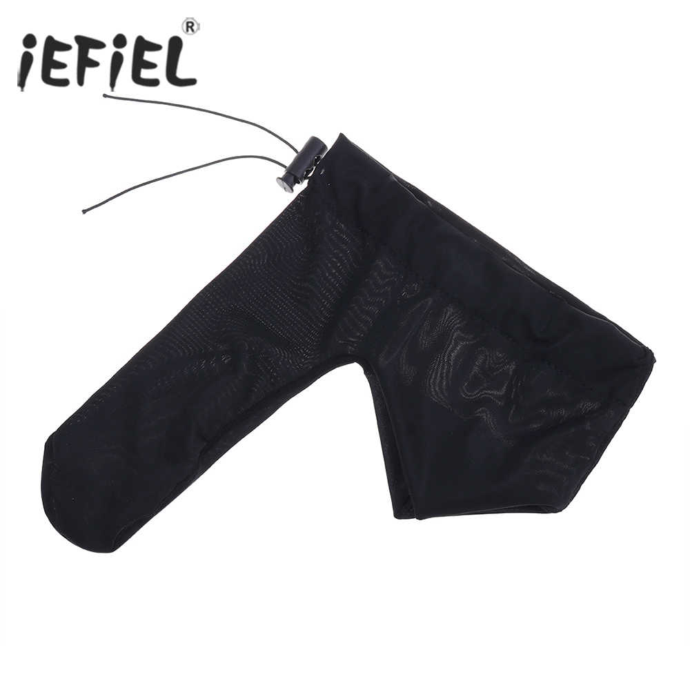 iEFiEL Black 8 Colors Men Lingerie Night Penis Sheath Cover Tights Underwear with Cord Lock for Size Adjustment Underpants
