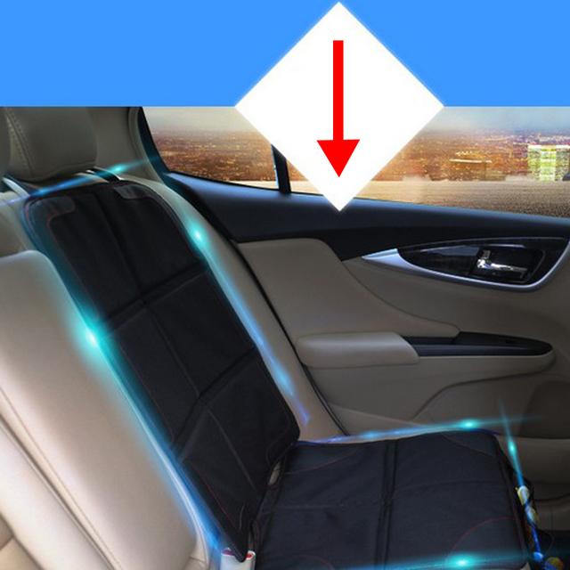 Protetor de Assento De Carro Carrinho de Mat Fácil Limpeza Do Carro Universal Preto Tampa de assento do Bebê Infantil Anti Derrapante Protetor de Assento Para O Bebê segurança