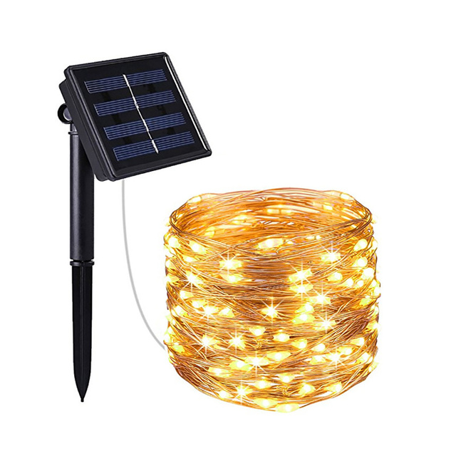LED Outdoor Solar Lamps 100/200 LEDs String Lights Fairy Holiday Christmas Party Garland Solar Garden Waterproof Lights