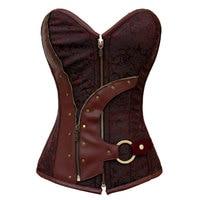 dec96831b 2016 New Arrival Fashion Sexy Gothic Slim Waistcoat Bustier Steampunk Corset  Plus Size S M L. Brown Steampunk Espartilho Gótico Colete Mulheres ...