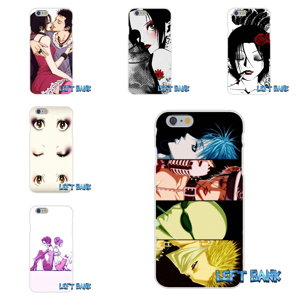 nana anime Soft Silicone TPU Transparent Cover Case For iPhone 4 4S 5 5S 5C SE 6 6S 7 Plus