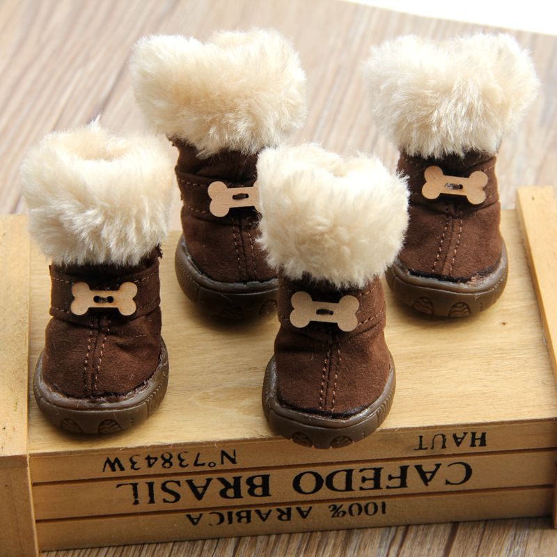 Aliexpress Com Buy Thick Fur Pet Shoes Small Dogs Shoes