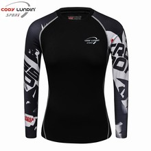 codylundin2017 New Women/girls Compression T-Shirts Long Sleeve 3D Print Tee Female Body Weight Lifting Workout Fitness Clothing